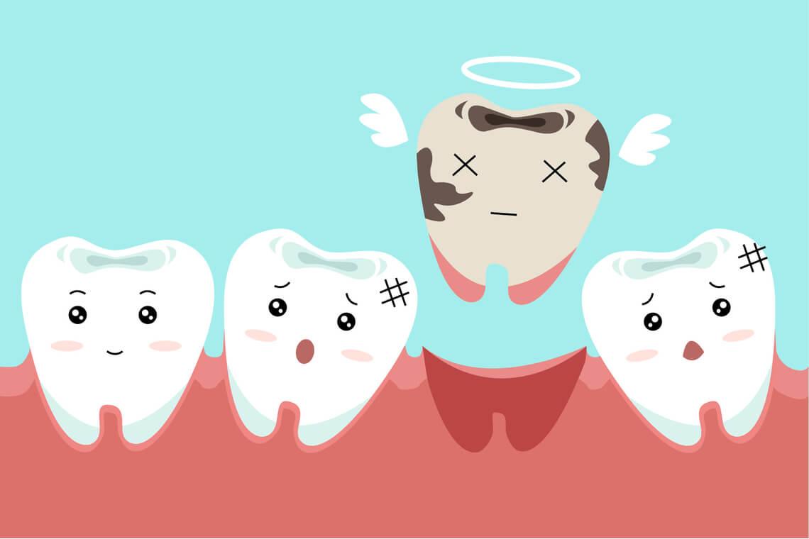 diente flojo problema